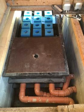 Umbau Filtertechnik vom Mehrkammerfilter auf Großpatronenfilter und Biofilter